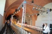 Oświetlenie pokazu mody Zamek Królewski